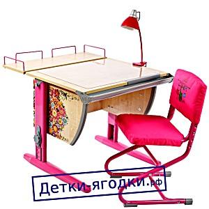 Парта ДЭМИ (ДЕМИ) 75х55 см с рисунком + задняя приставка (СУТ 14-01Р)